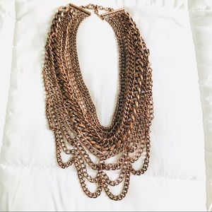 Rose gold Multi Chain BaubleBar Necklace
